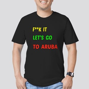 Let's go to Aruba Men's Fitted T-Shirt (dark)