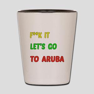 Let's go to Aruba Shot Glass