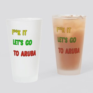 Let's go to Aruba Drinking Glass
