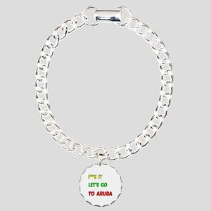 Let's go to Aruba Charm Bracelet, One Charm