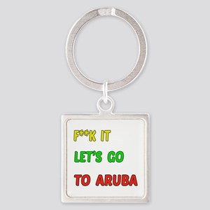 Let's go to Aruba Square Keychain