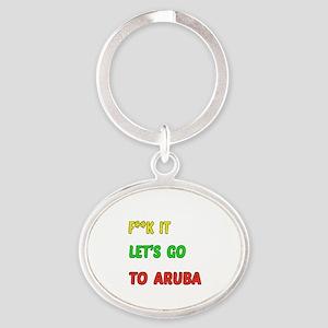 Let's go to Aruba Oval Keychain