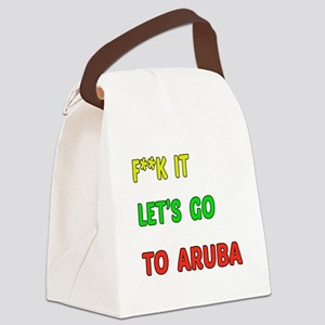 Let's go to Aruba Canvas Lunch Bag