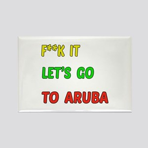 Let's go to Aruba Rectangle Magnet