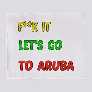 Let's go to Aruba Throw Blanket