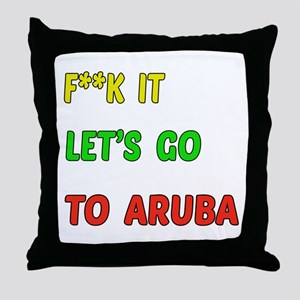 Let's go to Aruba Throw Pillow