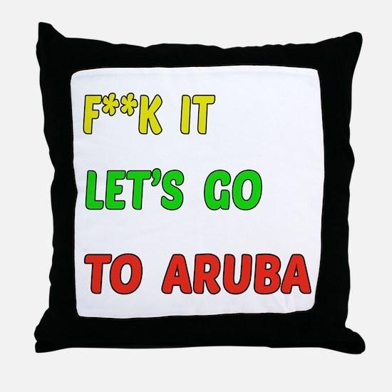 Let's go to Aruba Throw Pillow