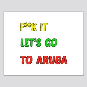 Let's go to Aruba Small Poster