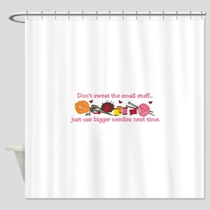 Knitting Stuff Shower Curtain
