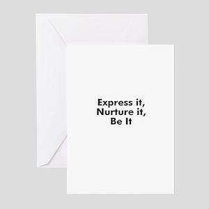 Express it, Nurture it, Be It Greeting Cards (Pk o