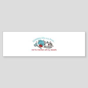 Sewing Fills Bumper Sticker