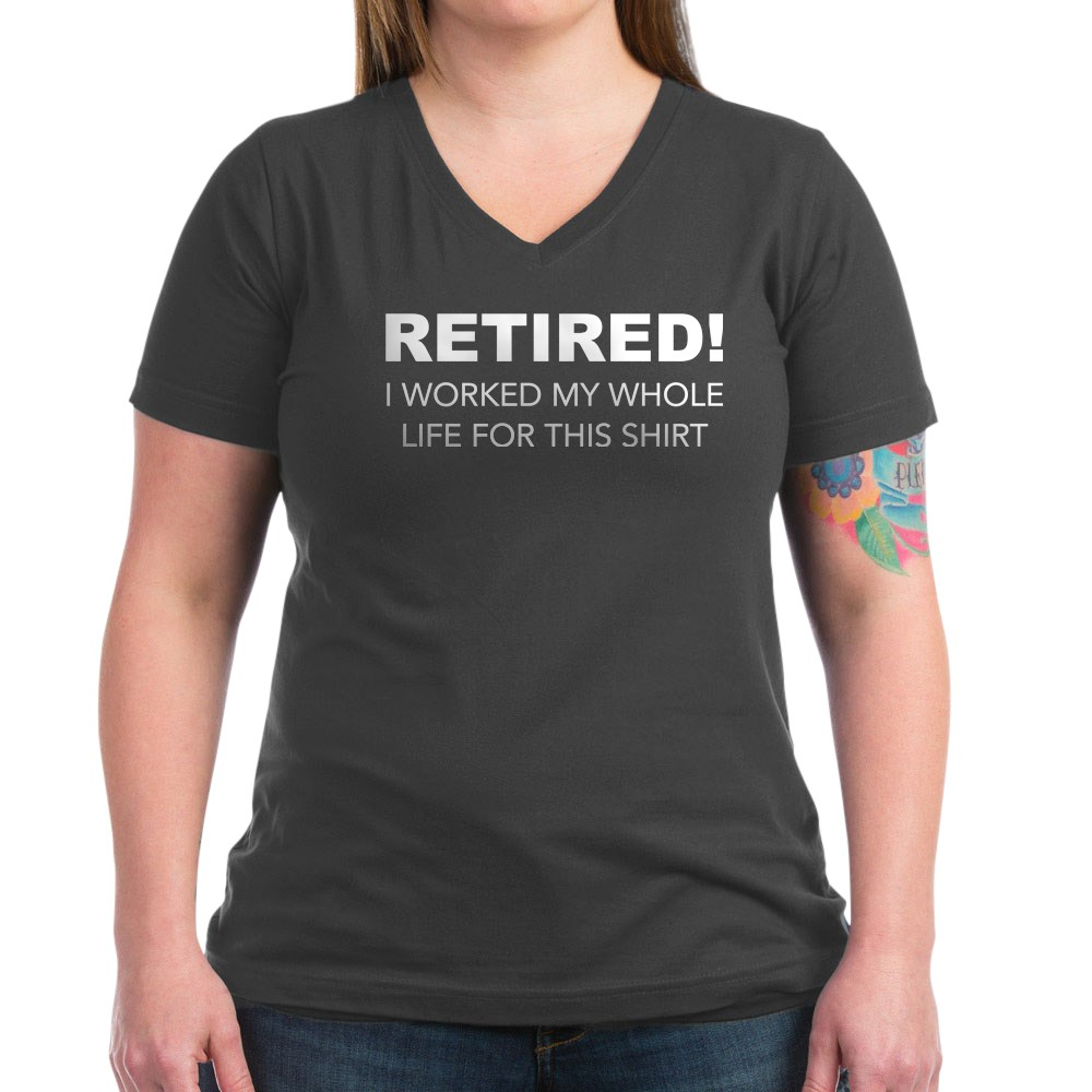 CafePress-Retired-T-Shirt-Women-039-s-V-Neck-Dark-T-Shirt-1731395046 thumbnail 22