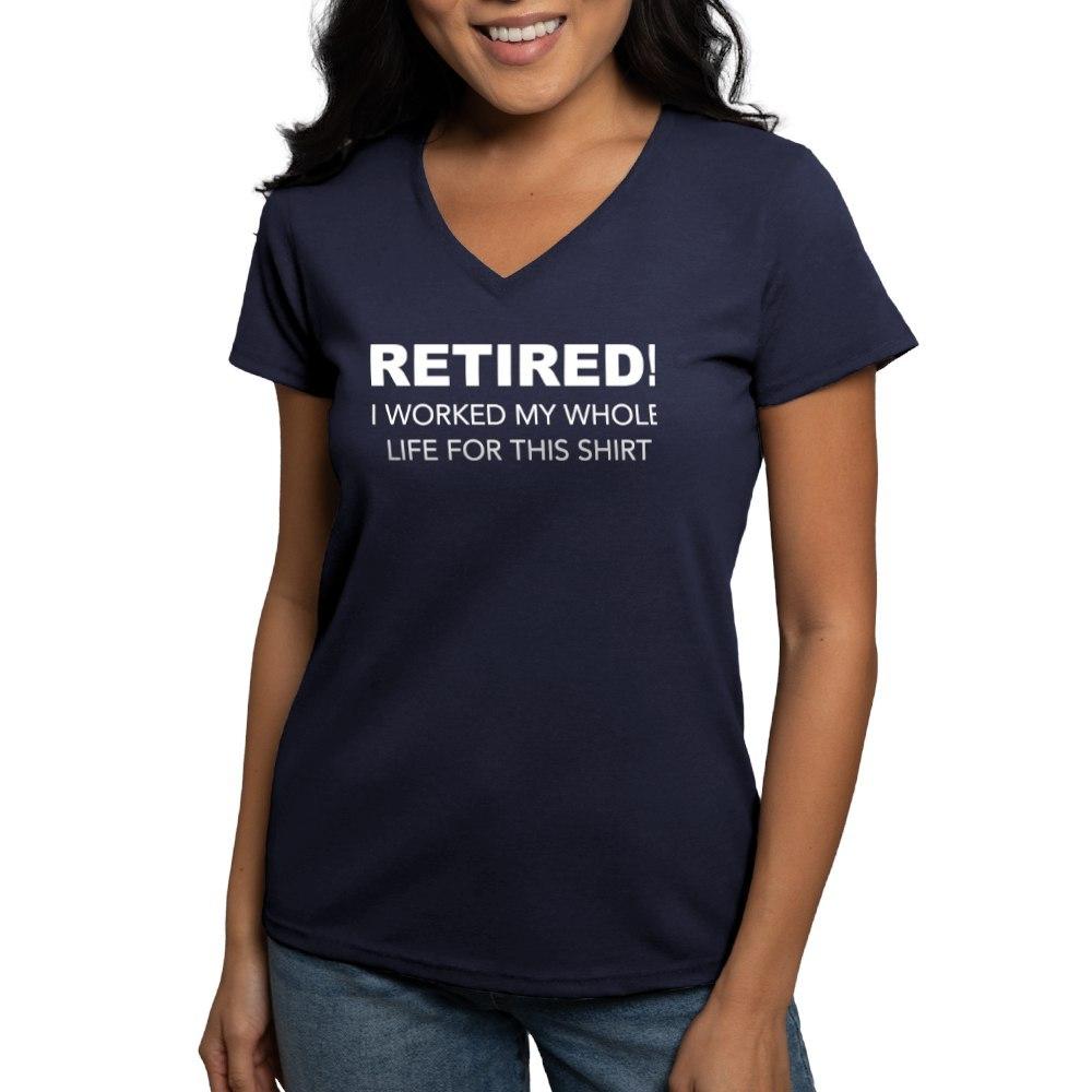 CafePress-Retired-T-Shirt-Women-039-s-V-Neck-Dark-T-Shirt-1731395046 thumbnail 52