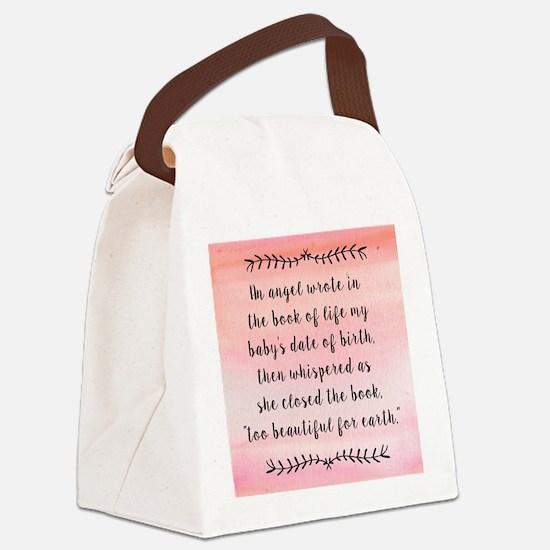 Unique Pregnancy Canvas Lunch Bag