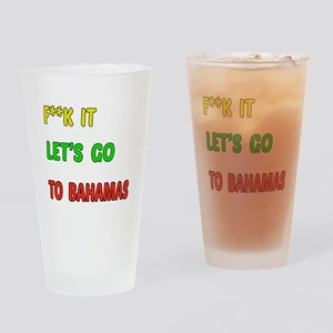 Let's go to Bahamas Drinking Glass