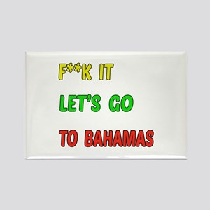 Let's go to Bahamas Rectangle Magnet