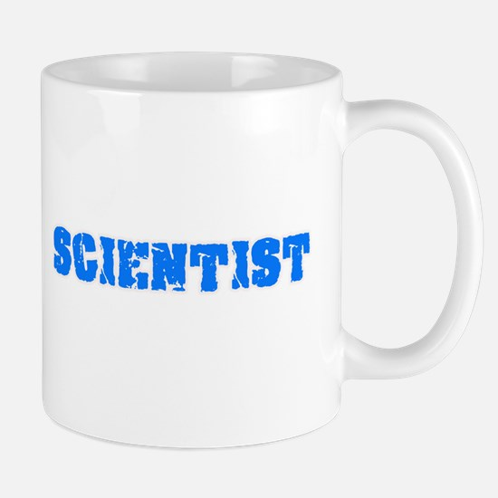 Scientist Blue Bold Design Mugs