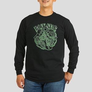 ROCK STAR GREEN Long Sleeve Dark T-Shirt