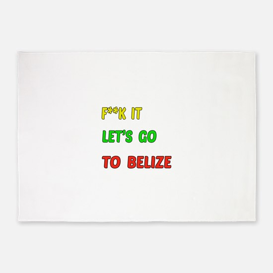 Let's go to Belize 5'x7'Area Rug