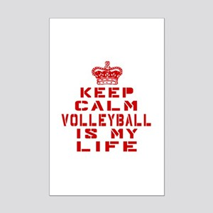 Keep Calm and Volleyball Mini Poster Print