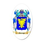 Quiroga Oval Car Magnet