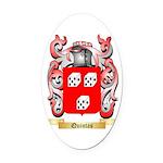 Quintas Oval Car Magnet