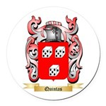 Quintas Round Car Magnet