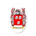 Quintana Oval Car Magnet