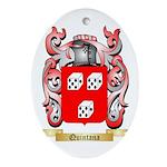 Quintana Oval Ornament