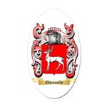 Quinnelly Oval Car Magnet