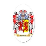 Quinlan Oval Car Magnet