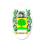 Quilty Oval Car Magnet