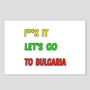 Let's go to Bulgaria Postcards (Package of 8)