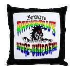 Were-Unicorn! Throw Pillow