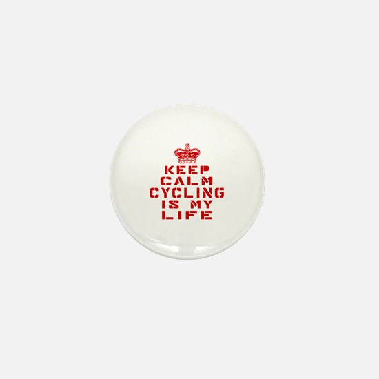 Keep Calm and Cycling Mini Button