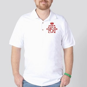Keep Calm and Curling Golf Shirt