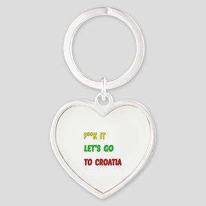 Let's go to Croatia Heart Keychain