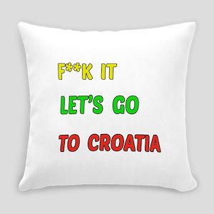 Let's go to Croatia Everyday Pillow