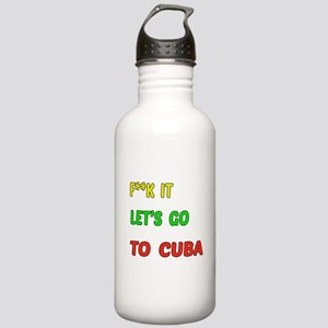 Let's go to Cuba Stainless Water Bottle 1.0L