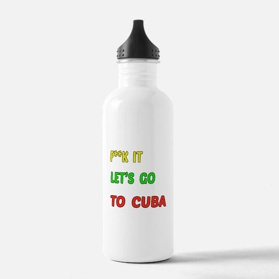 Let's go to Cuba Water Bottle