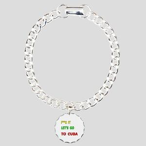 Let's go to Cuba Charm Bracelet, One Charm
