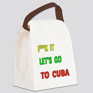 Let's go to Cuba Canvas Lunch Bag