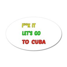 Let's go to Cuba Wall Decal