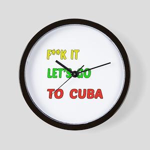 Let's go to Cuba Wall Clock