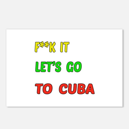 Let's go to Cuba Postcards (Package of 8)