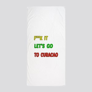 Let's go to Curacao Beach Towel