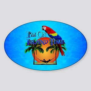 Island Time And Parrot Sticker