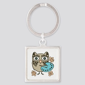 Owl Painter Keychains