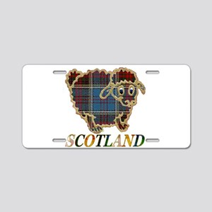 Scotland tartan sheep Aluminum License Plate