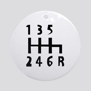 gearshift Round Ornament